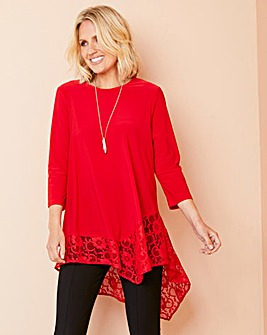 Julipa Lace Trim Asymmetric Tunic