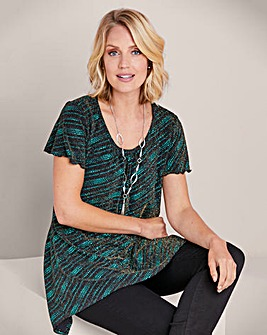 Julipa Hanky Hem Tunic With Neckace