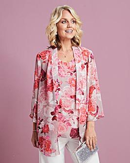 Printed Kimono and Cami