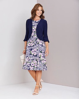 Print Dress with Shrug. 45