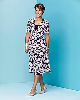 Slimma Printed Jersey Dress