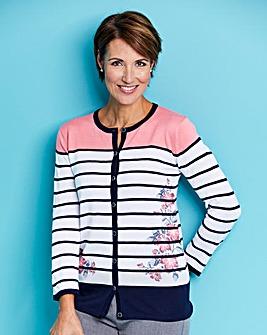 Slimma Printed Stripe Cardigan