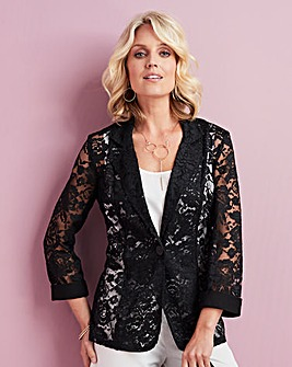 Lace and Jersey Jacket
