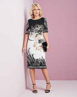 Print Jersey Shift Dress