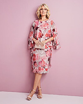 Floral Print Layered Dress