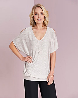 Jacquard Knit Tunic With Hemband