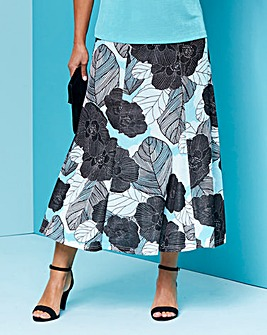 Print Slinky Skirt 32in