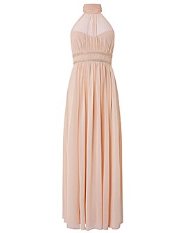Monsoon Marion Halter Embellished Dress