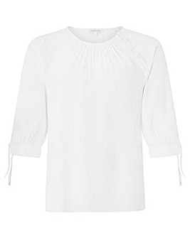 Monsoon Josiah Tie Sleeve Blouse