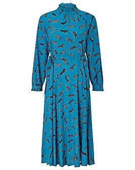 Monsoon Sadie Leopard Print Dress