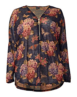 Izabel London Curve Floral Print Jumper