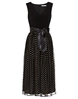 Gina Bacconi Tess Gold Spot Dress