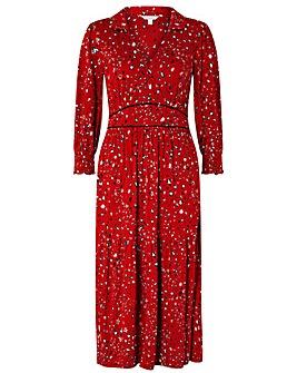 Monsoon Star Print Midi Dress
