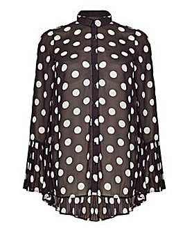 Mela London Curve Polka Dot Tunic Top