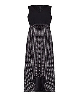 Mela London Curve Polka Maxi Dress