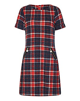 Yumi Curves Zip Pocket Check Tunic