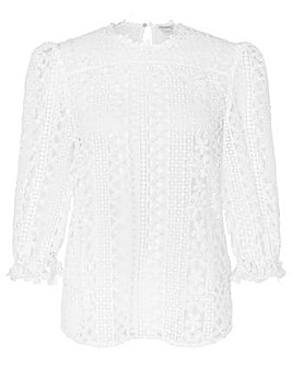 Monsoon Darcy Daisy Lace Top