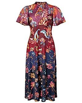 Monsoon Laura Print Tea Midi Dress