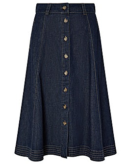 Monsoon Thea Organic Cotton Denim Skirt