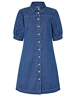 Monsoon Eliza Organic Cotton Denim Dress