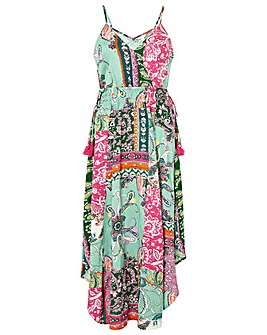 Monsoon Pooja Printed Ecovero Midi Dress