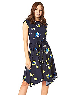 Roman Animal Spot Hanky Hem Dress