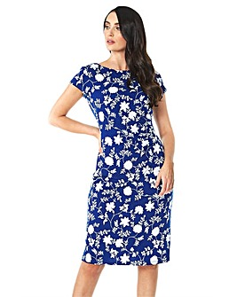Roman Floral Textured Print Side Ruch...
