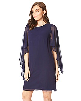 Roman Chiffon Cape Sleeve Dress