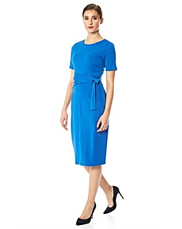 Roman Side Tie Jersey Dress
