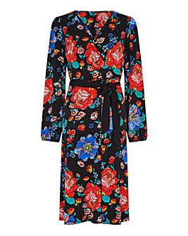Yumi Curves Floral Wrap Dress