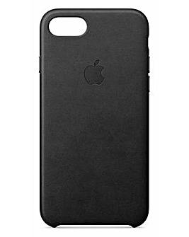 Apple iPhone 7/8 Leather Case - Black