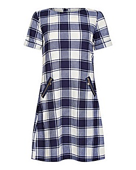 Yumi Curves Check Tunic With Zip Pocket