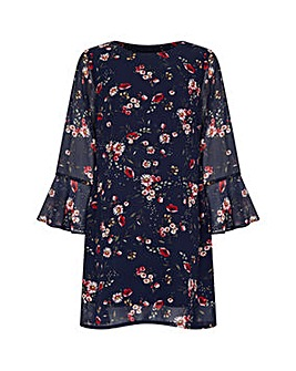 Yumi Curves Daisy Print Tunic Dress