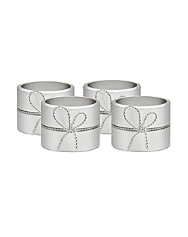 Vera Wang Love Knots Napkin Ring x 4
