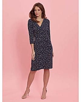 Gina Bacconi Candia Spot Jersey Dress