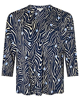 Monsoon Lois Linen Printed Top