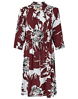 Monsoon Ruby Print Ecovero Dress