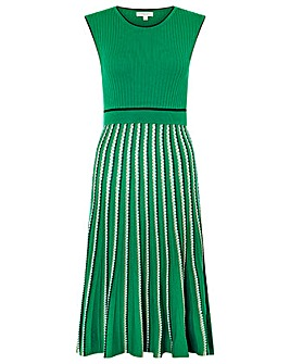 Monsoon Mimi Rib Stripe Dress