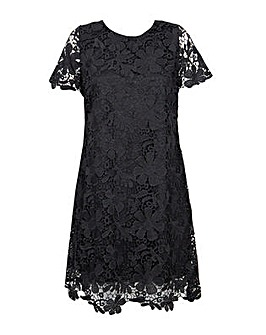 Lovedrobe GB Lace Overlay Midi Dress