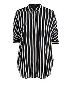 Koko Striped Batwing Sleeve Shirt