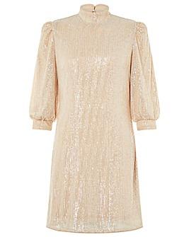 Monsoon Adara Sequin Short Dress