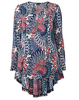 Izabel London Curve Floral Print Top