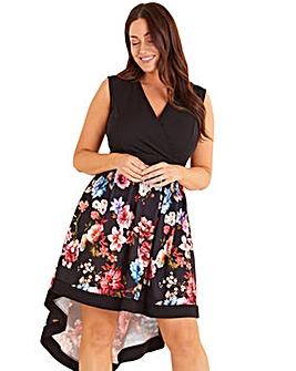 Mela London Curve Floral High Low Dress