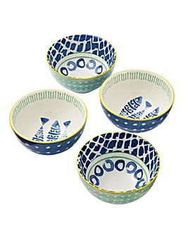 Set of 4 Laguna 10cm Nibble Bowls