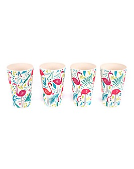 Flamingo Pack of 4 Cups