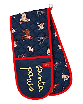 Joules Christmas Dogs Double Oven Gloves