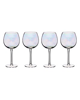 BarCraft Lustre Set of 4 Gin Glasses