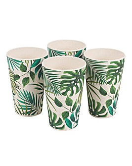 Polynesia Set of 4 Bamboo Cups