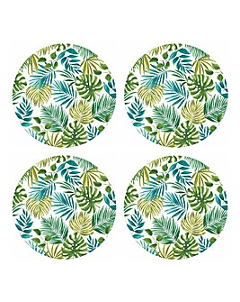 Polynesia Set of 4 Bamboo Plates