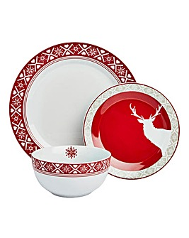 Nordic Stag 12 Piece Dinner Set